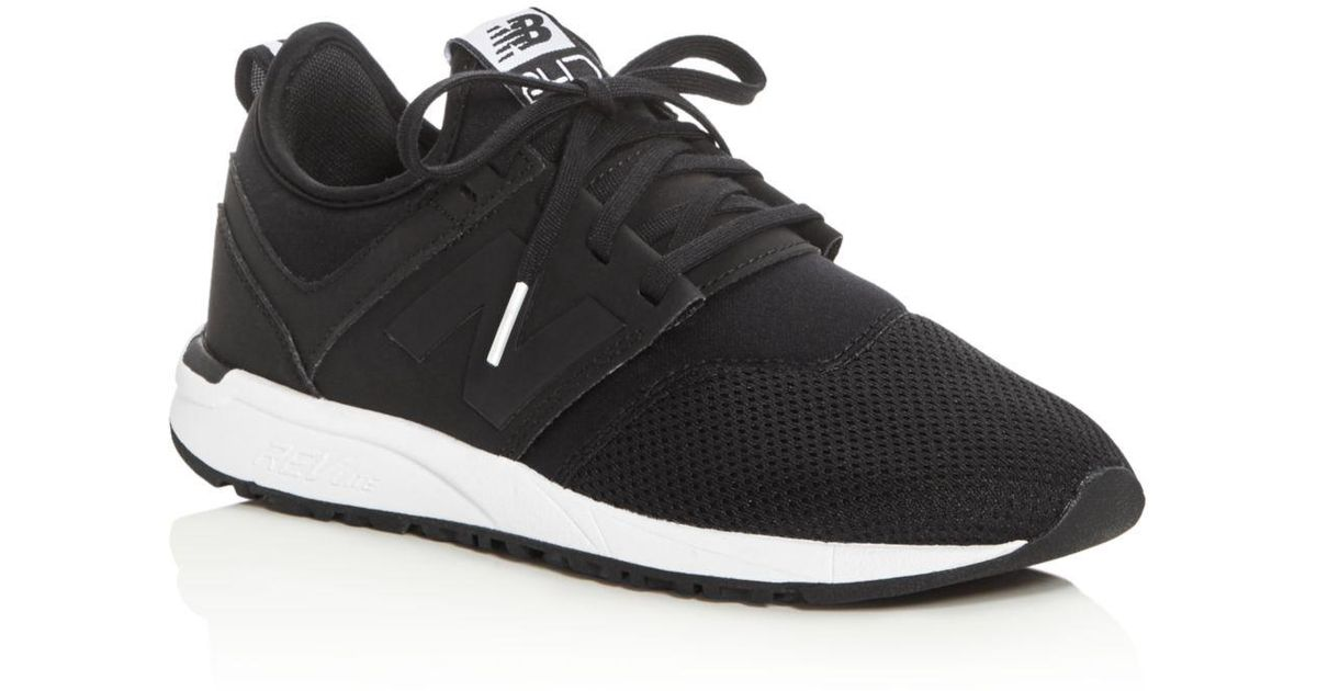 ... 9b0df 8b0a4 Lyst - New Balance Womens 247 Classic Lace Up Sneakers in  Bl newest ... a96661a3b