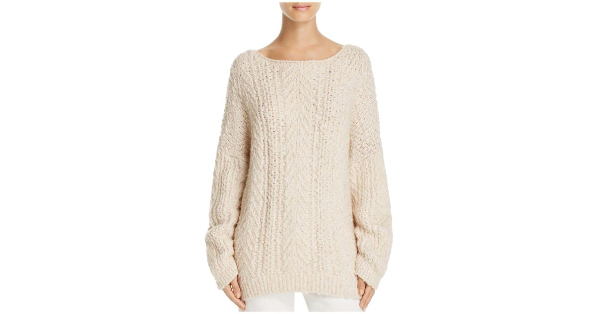 Lyst Vince Cable Knit Sweater In White