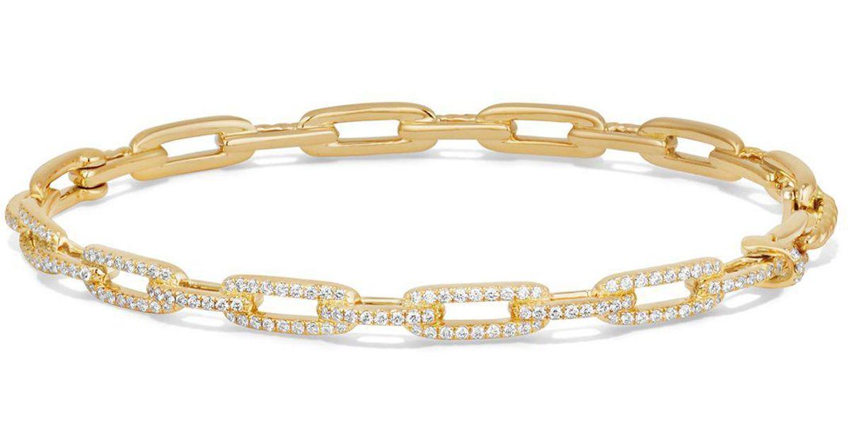 David Yurman 18kt yellow gold Stax diamond chain link bracelet - Metallic WEJUq