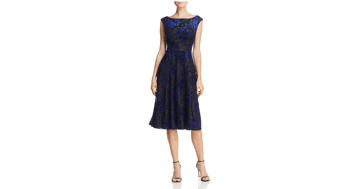 23b33a1d Betsey Johnson Burnout Velvet Dress in Blue - Lyst