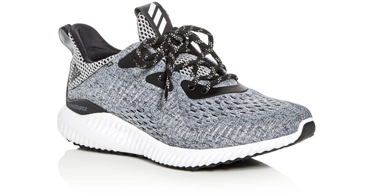 019cb28fcd433 Lyst - adidas Women s Alphabounce Engineered Mesh Lace Up Sneakers in Black