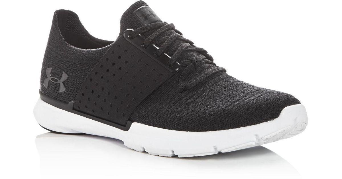 b6a9c01e31dc Lyst - Under Armour Men s Speedform Slingwrap Knit Lace Up Sneakers in  Black for Men