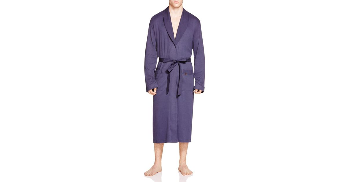 Lyst - Hanro Night And Day Knit Robe in Purple for Men 9b6271f23