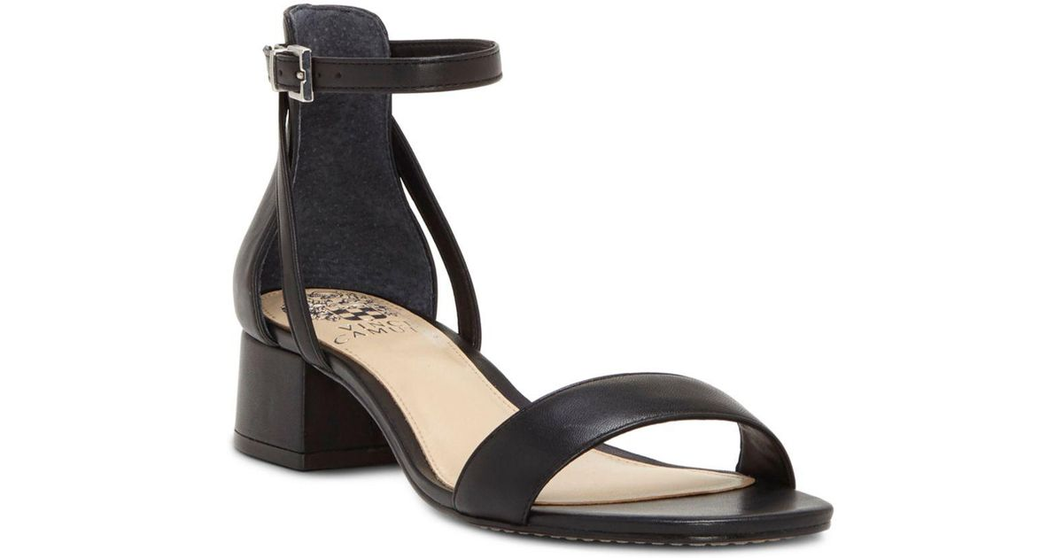714aeb74f9 Vince Camuto Shetana Block-heel Dress Sandals in Black - Lyst