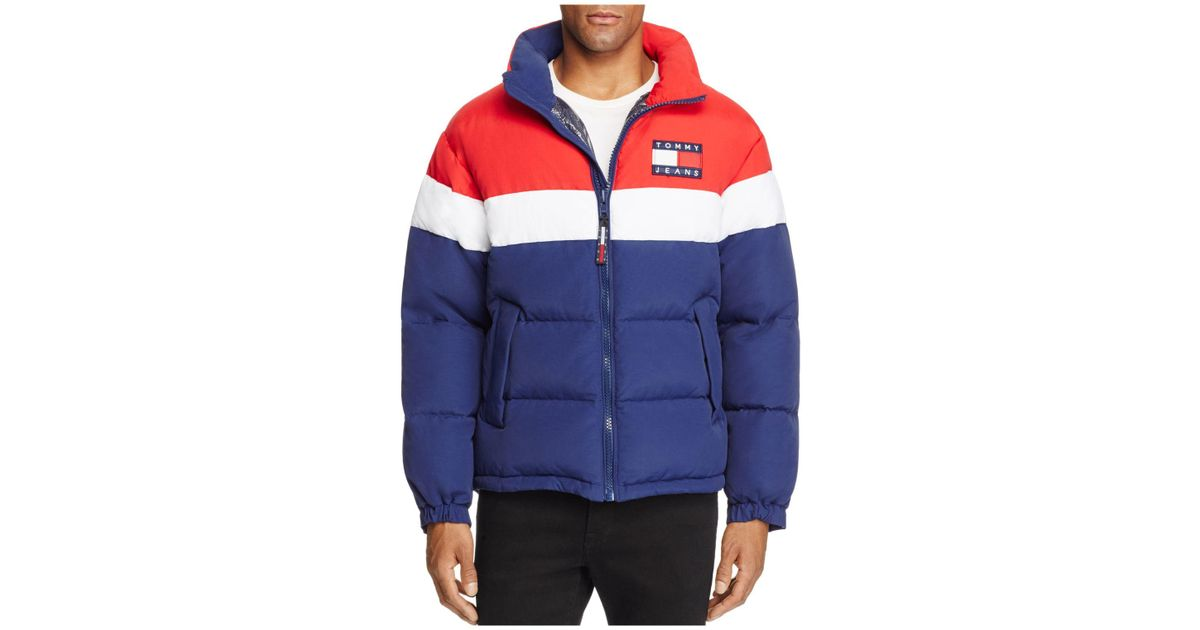 35d947492 Tommy Hilfiger Tommy Jeans 90's Retro Color-blocked Puffa Jacket in Blue  for Men - Lyst