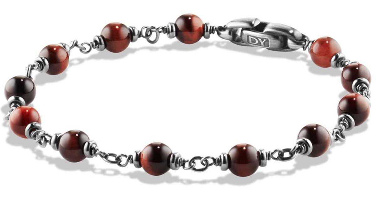 Lyst David Yurman Spiritual Beads Rosary Bracelet In Red