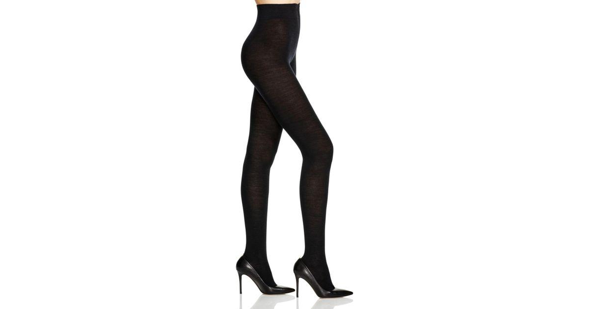 76d559700bbff Falke Soft Merino Wool Blend Tights in Black - Lyst
