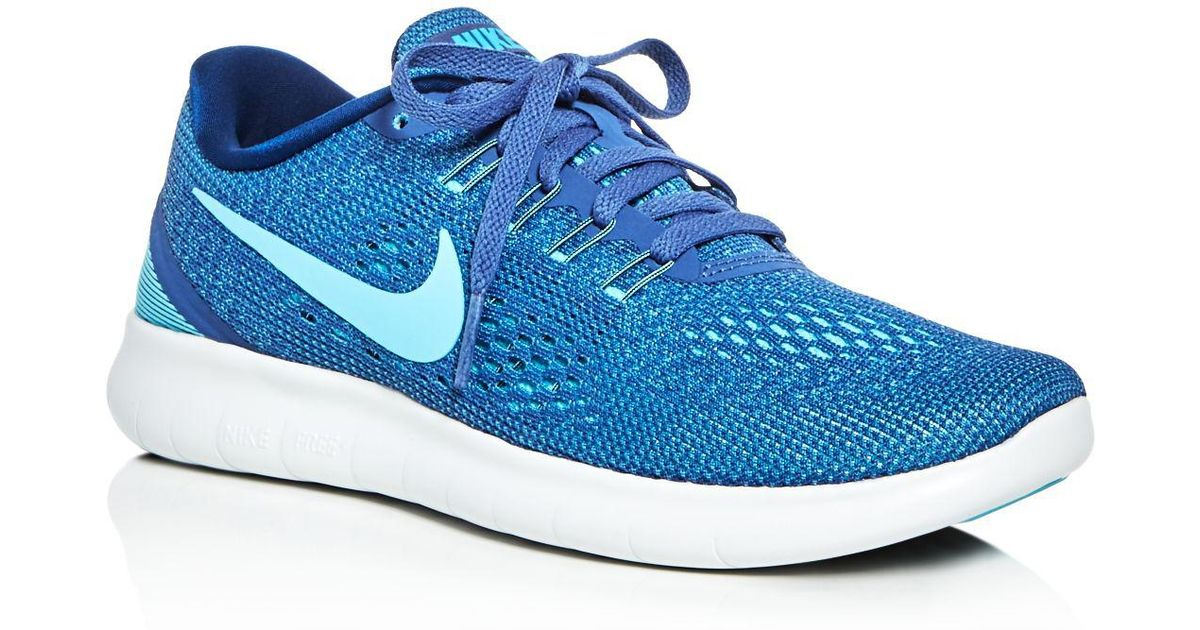 8913c9dcd37c Lyst - Nike Women s Free Run Natural Lace Up Sneakers in Blue for Men