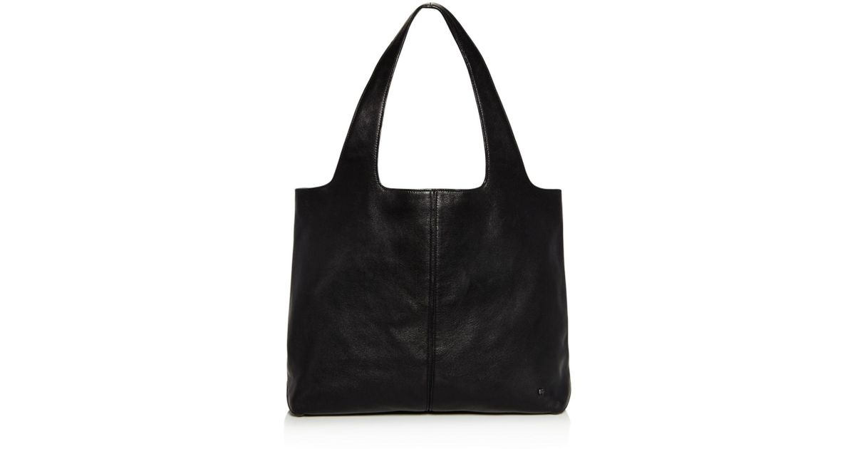 Lyst - Halston Heritage Tina Large Open Soft Leather Tote in Black f3e9e8727df35