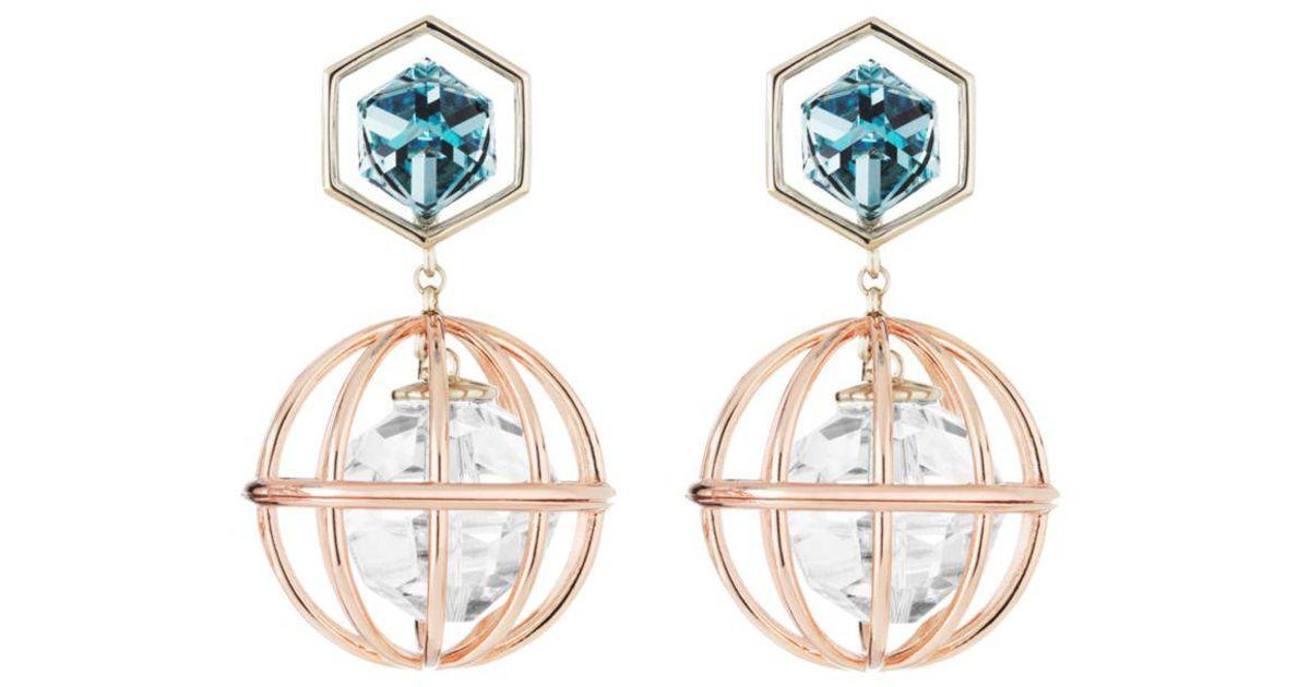 352cb5ab168a5 Lyst - Atelier Swarovski X Mary Katrantzou Nostalgia Drop Earrings