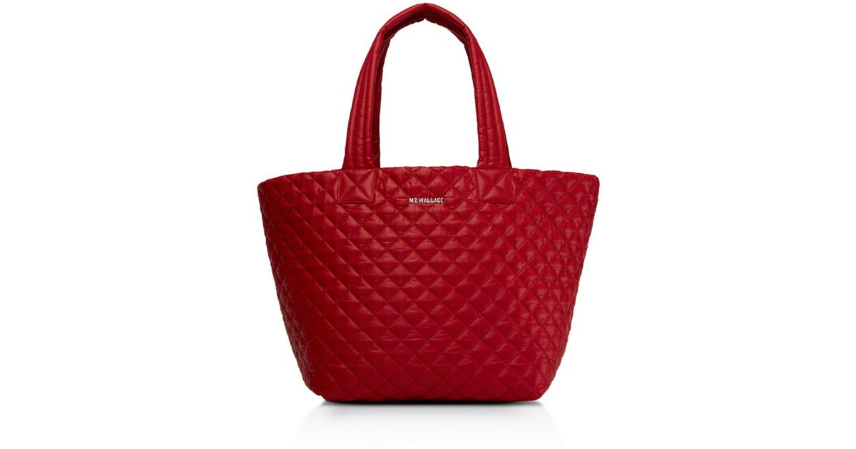 4f8a1629453f Lyst - MZ Wallace Medium Metro Tote in Red