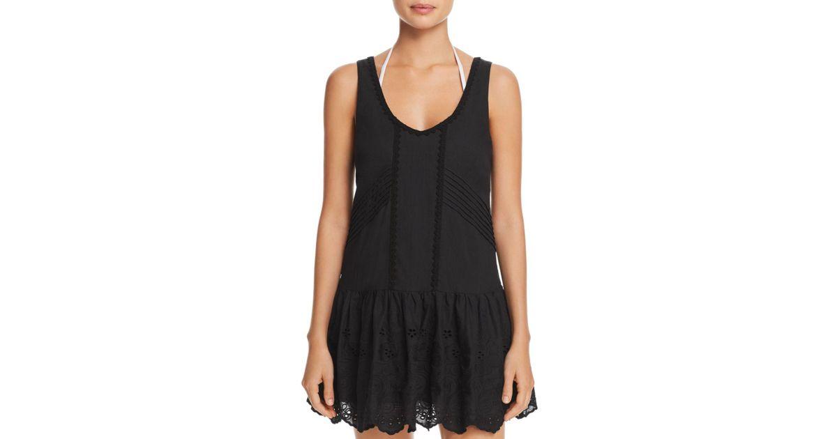 f0d35c7596 Lyst - MINKPINK Gardenia Tiered Mini Dress Swim Cover-up in Black