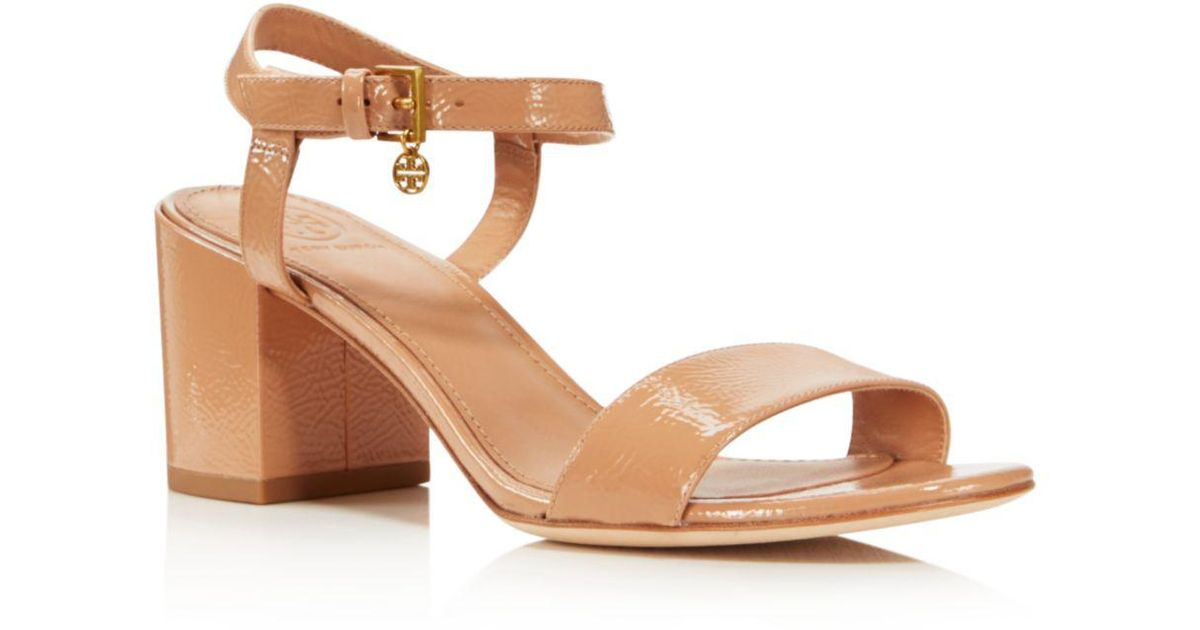 5263f398e1acb0 Lyst - Tory Burch Women s Laurel Patent Leather Ankle Strap Sandals