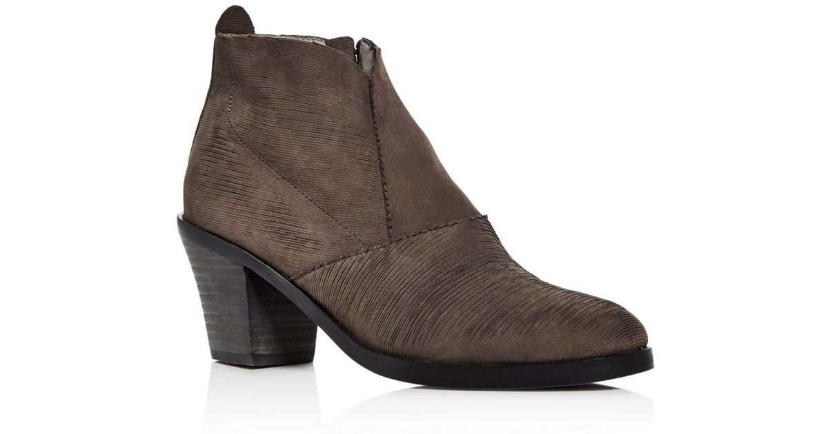 Murphy Nubuck Block Heel Booties DO0VFhif6
