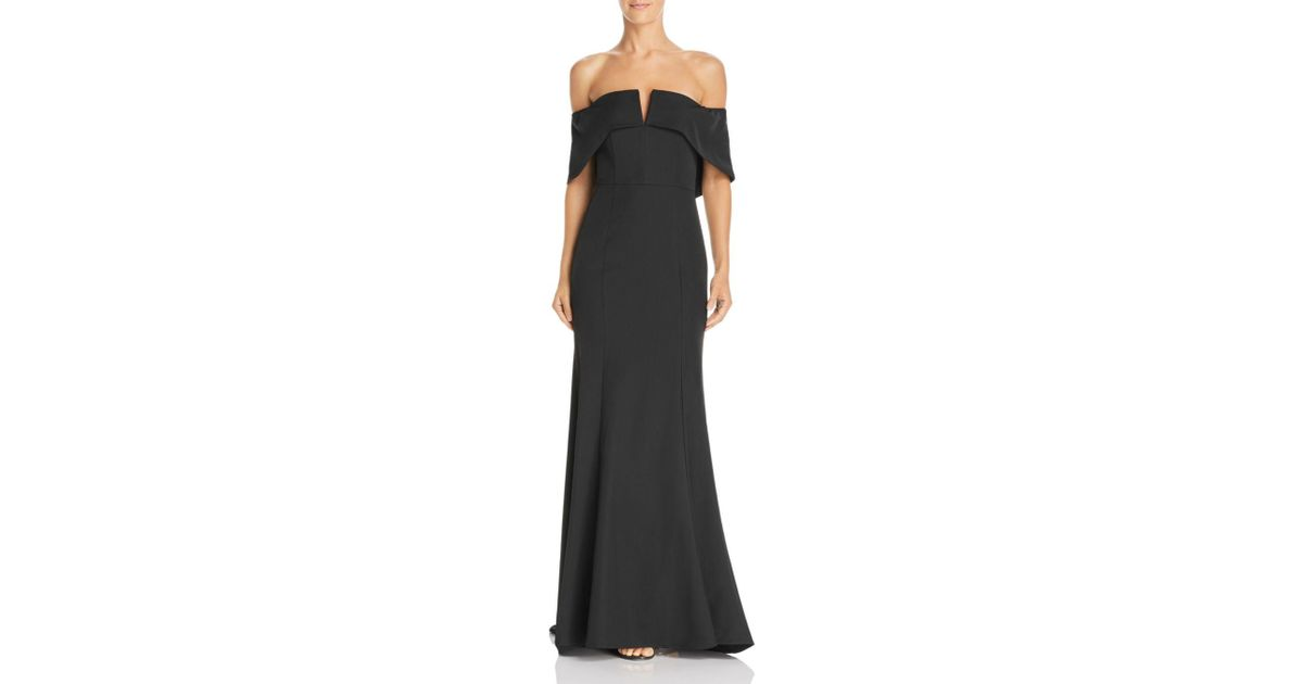43e7a6428ecf Jarlo Harlow Off - The - Shoulder Gown in Black - Lyst