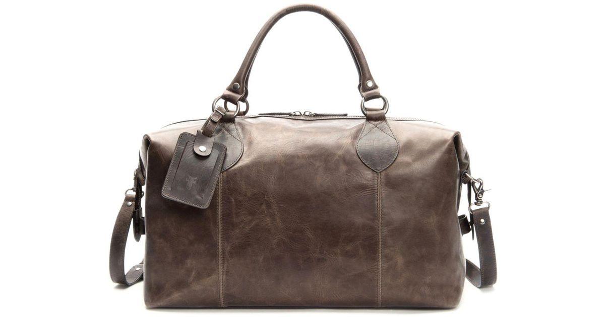 304f74609cc Frye Logan Overnight Leather Duffle Bag for Men - Lyst