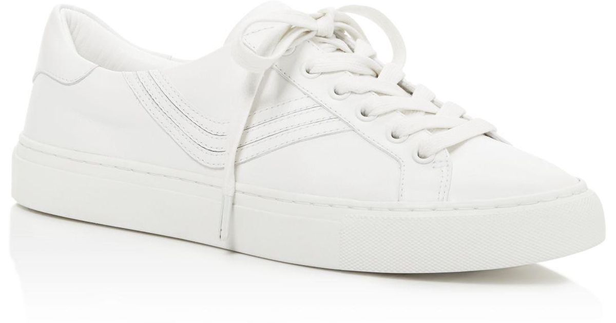 45e26c6ff26 Lyst - Tory Burch Tory Sport Chevron Color Block Low Top Lace Up Sneakers  in White