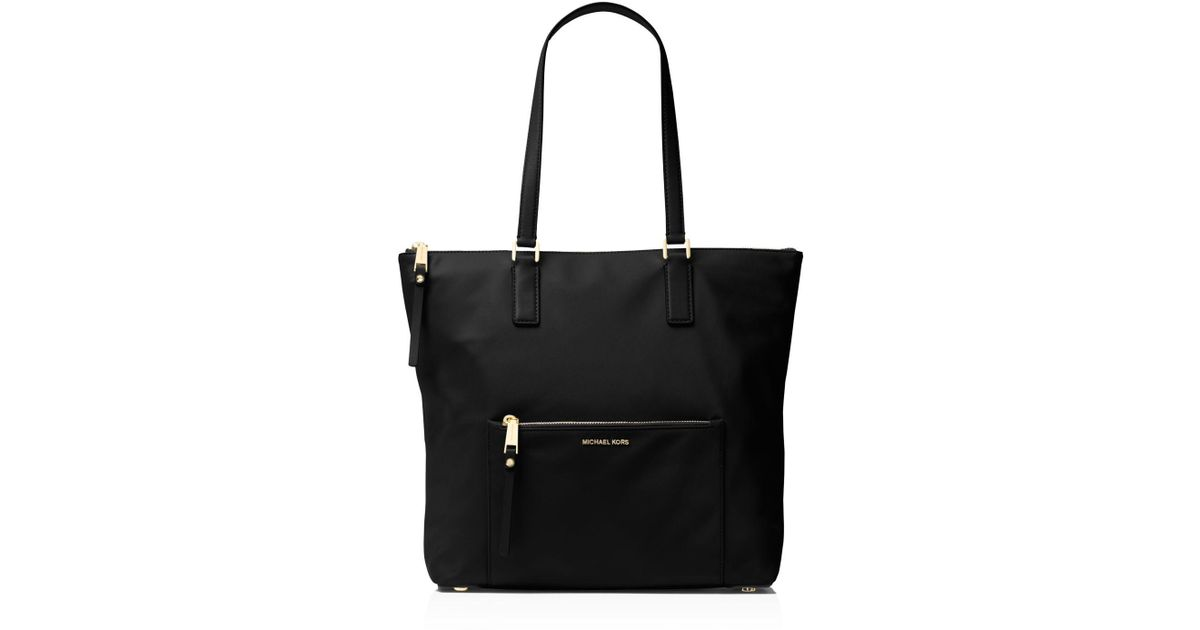 17102e9dcdca MICHAEL Michael Kors Ariana North/south Large Nylon Tote in Black - Lyst