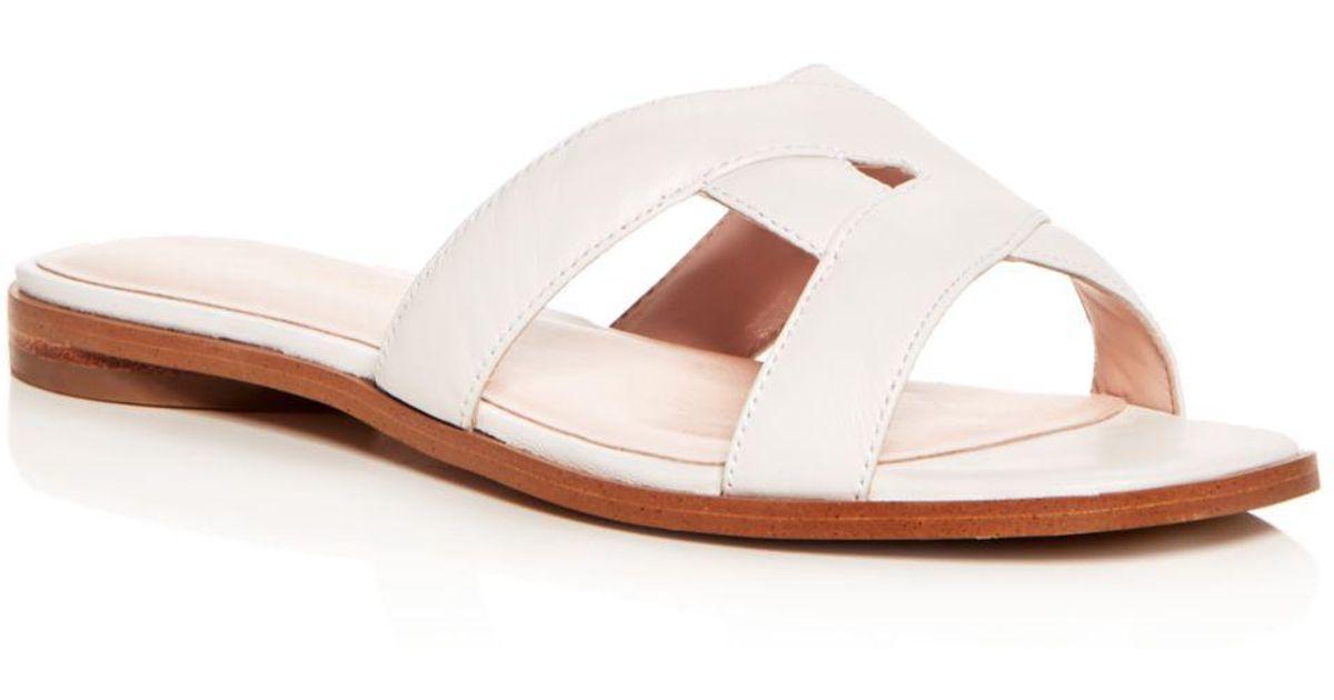 208fdb16e324 Avec Les Filles Women s Blaye Leather Slide Sandals - Lyst
