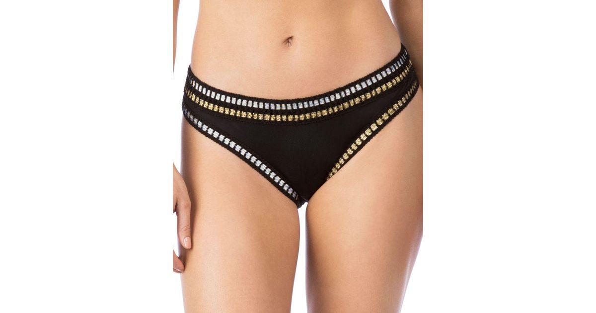 31b953ab37 Lyst - La Blanca Threading Along California Cut Bikini Bottom in Black
