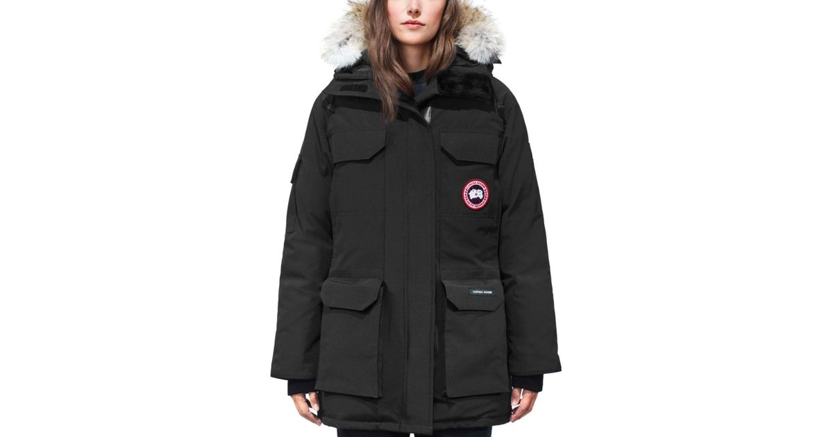 64df2cb1a28f ... denmark lyst canada goose expedition fur trim down parka in black f9c8d  42e0d