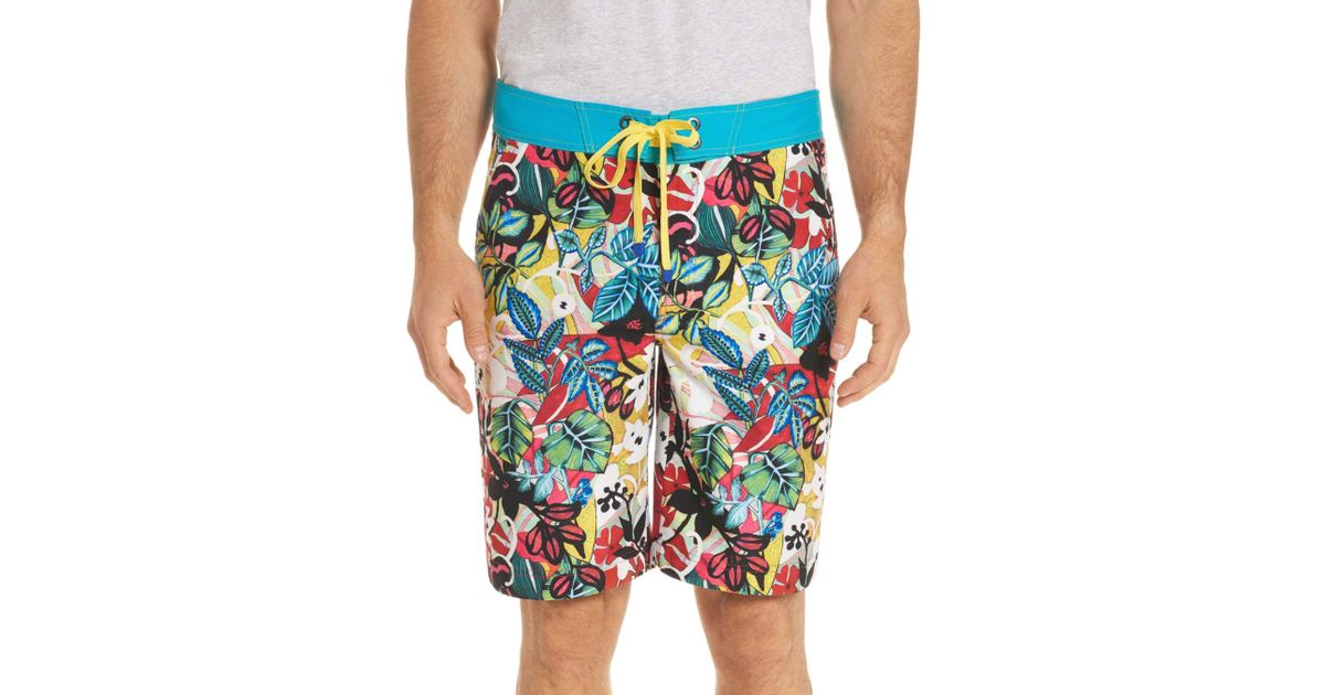 11ee45d965 Robert Graham Barbarito Floral Board Shorts in Blue for Men - Lyst