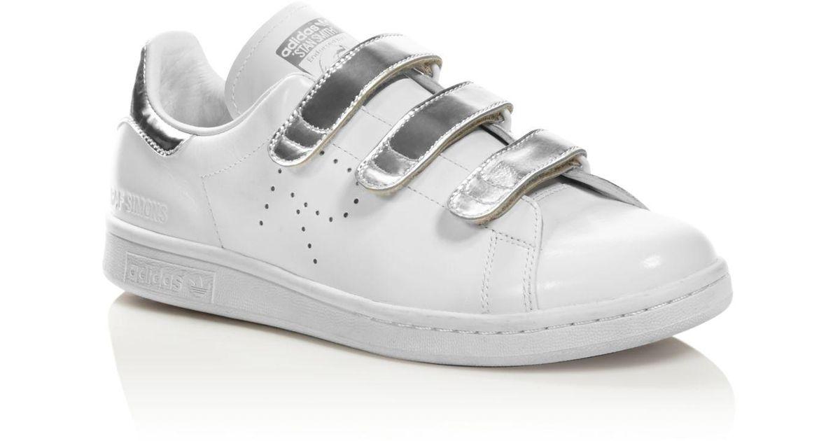 d20e729640b Lyst - adidas By Raf Simons Women s Stan Smith Metallic Triple Strap  Sneakers in Metallic