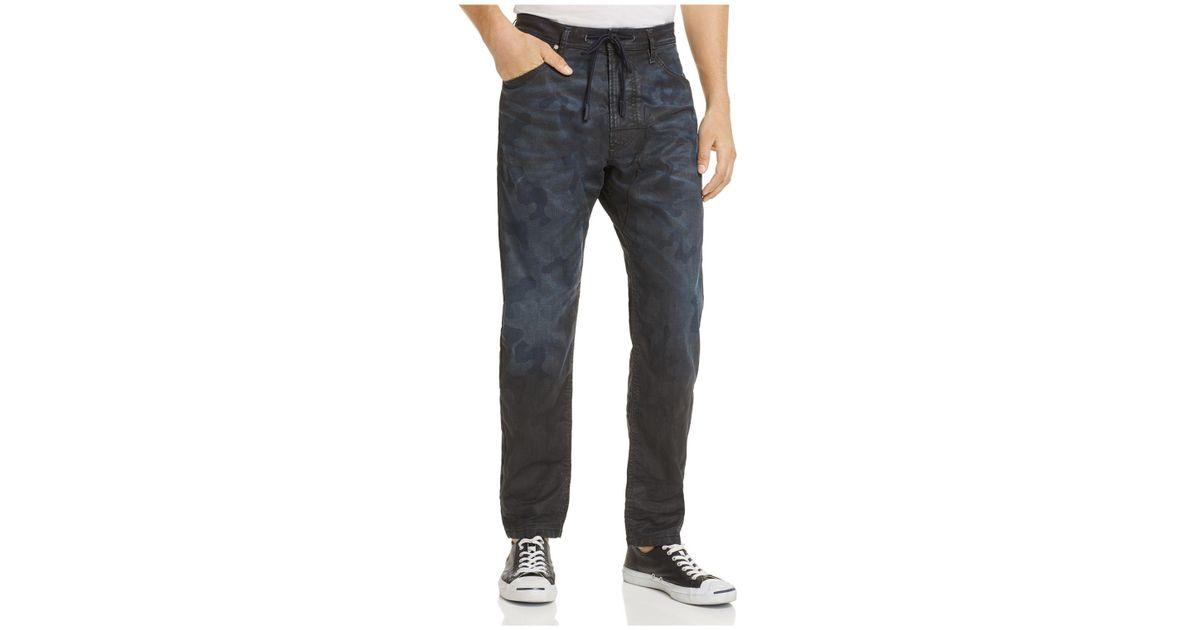 54fbe384 DIESEL Narrot Cb-ne Coated Slim Fit Jogger Jeans In Camouflage in Blue for  Men - Lyst