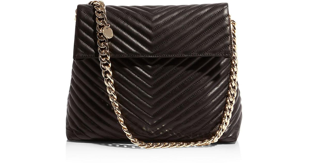 ced9531dc4 Karen Millen Regent Quilted Leather Shoulder Bag in Black - Lyst