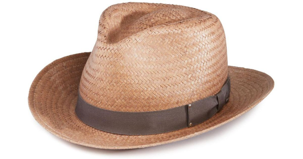 Lyst - Bailey Of Hollywood Spencer Straw Fedora in Brown for Men 3e25be59aca4