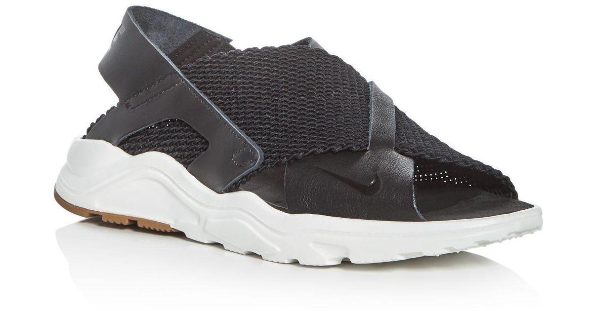 d6f10c3832e5 Lyst - Nike Women s Air Huarache Ultra Sandals in Black
