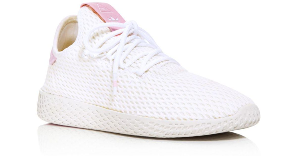 69390137aae61 Adidas X Pharrell Williams Women s Tennis Hu Lace Up Sneakers in White -  Lyst