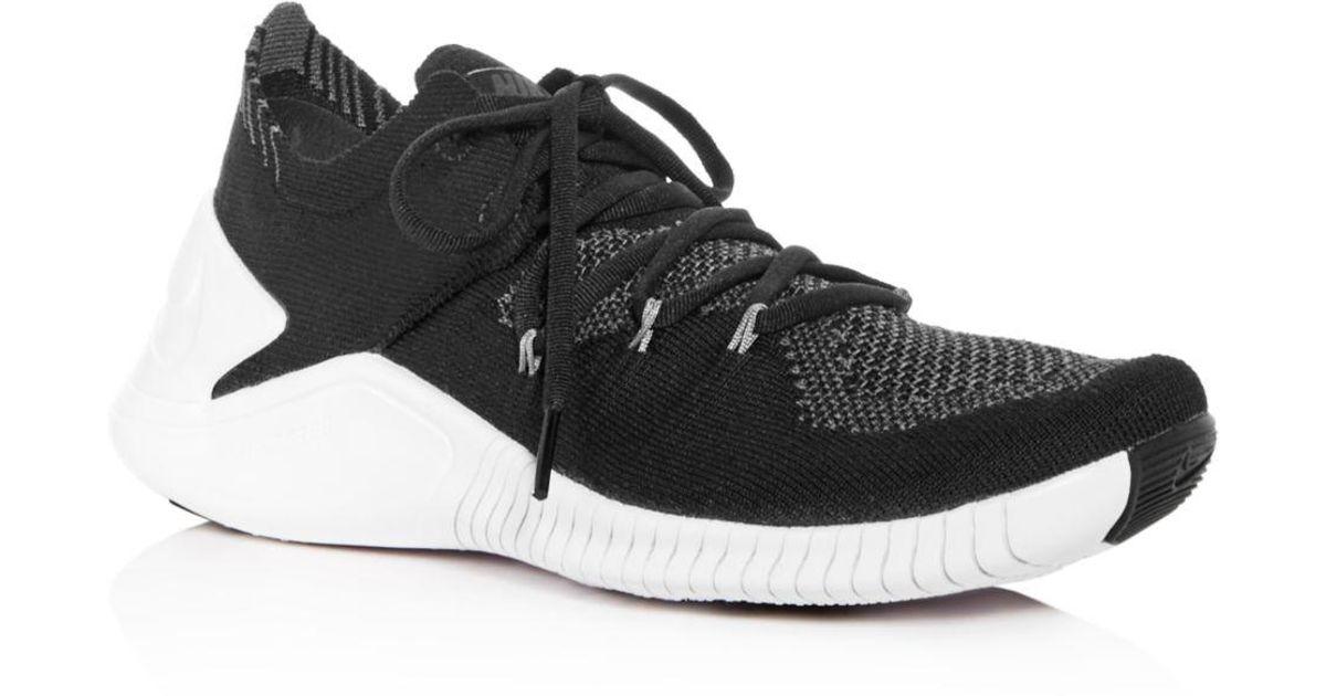 the best attitude 3366c 5cd0b Lyst - Nike Women s Free Tr 3 Flyknit Low-top Sneakers in Black - Save 30%