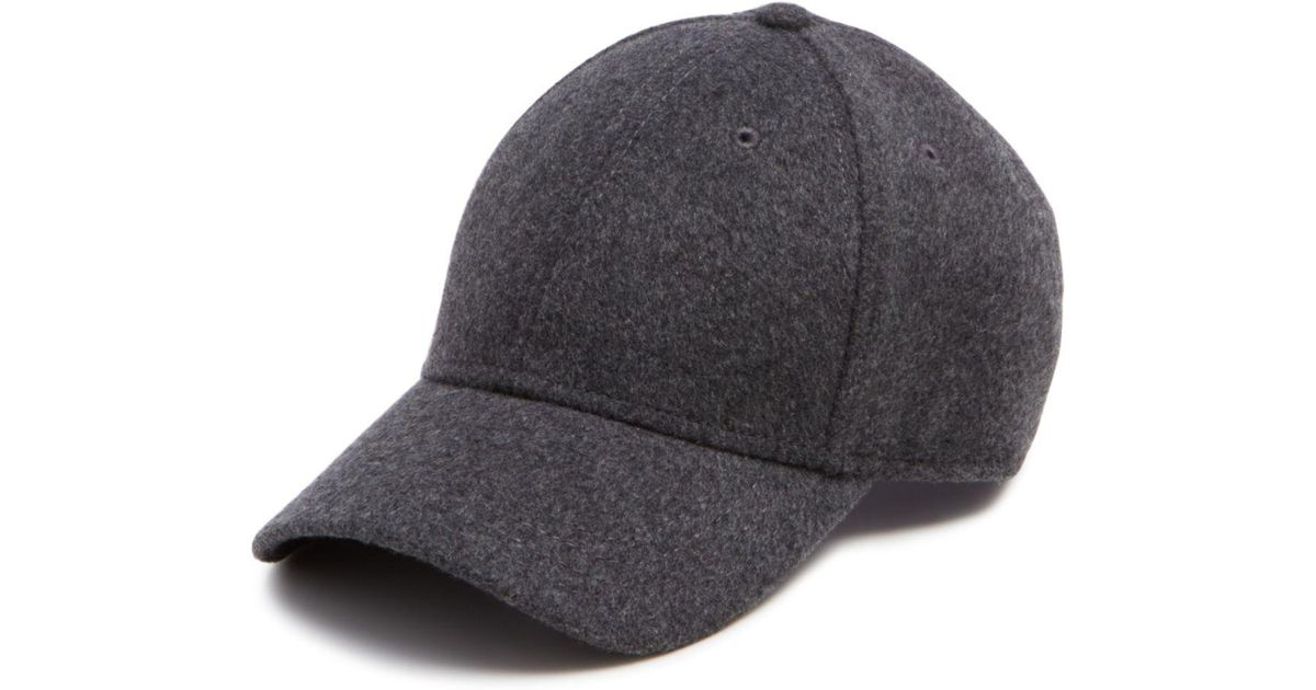df3d49b61ef Lyst - Gents Cashmere Blend Cap in Gray for Men
