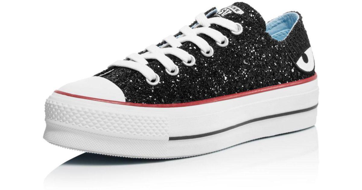 abffd909ef4 Lyst - Converse X Chiara Ferragni Women s Chuck Taylor Low Top Sneakers in  Black