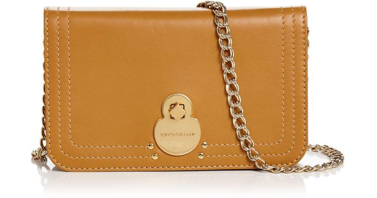 3303f74e21a0 Lyst - Longchamp Cavalcade Wallet On Chain Leather Crossbody