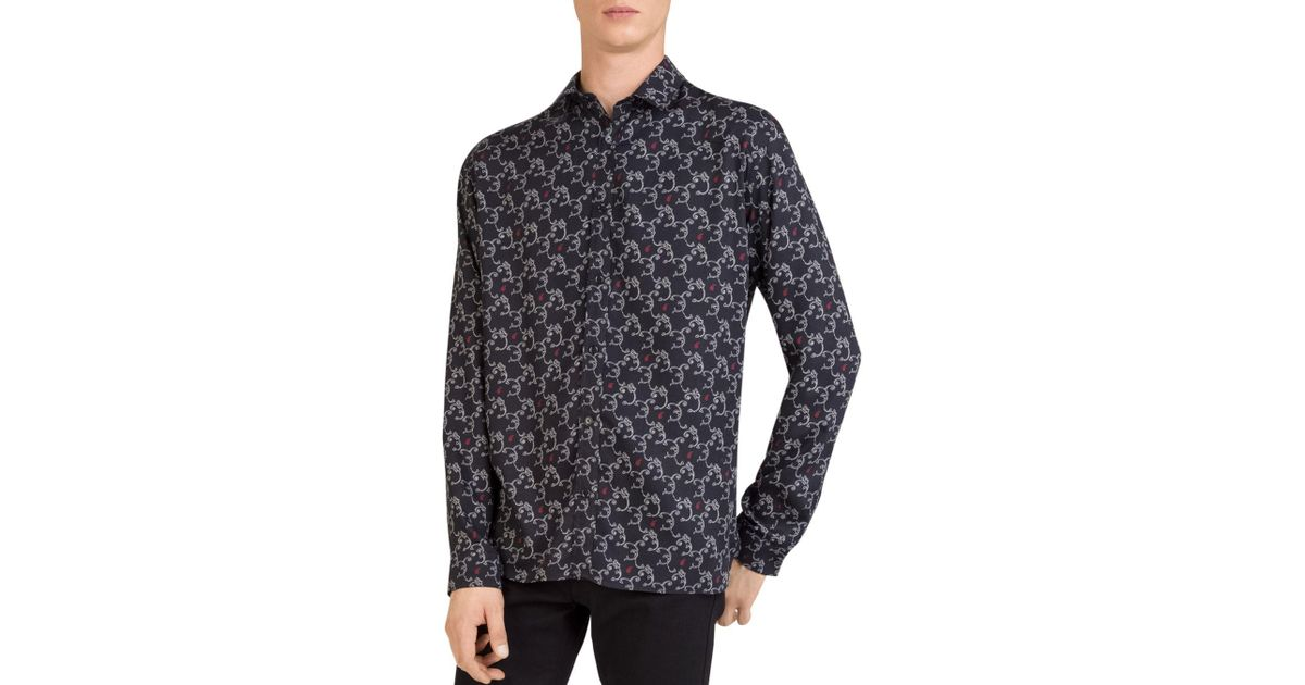 265fdc6e Lyst - The Kooples Arabesque Regular Fit Button-down Shirt in Black for Men