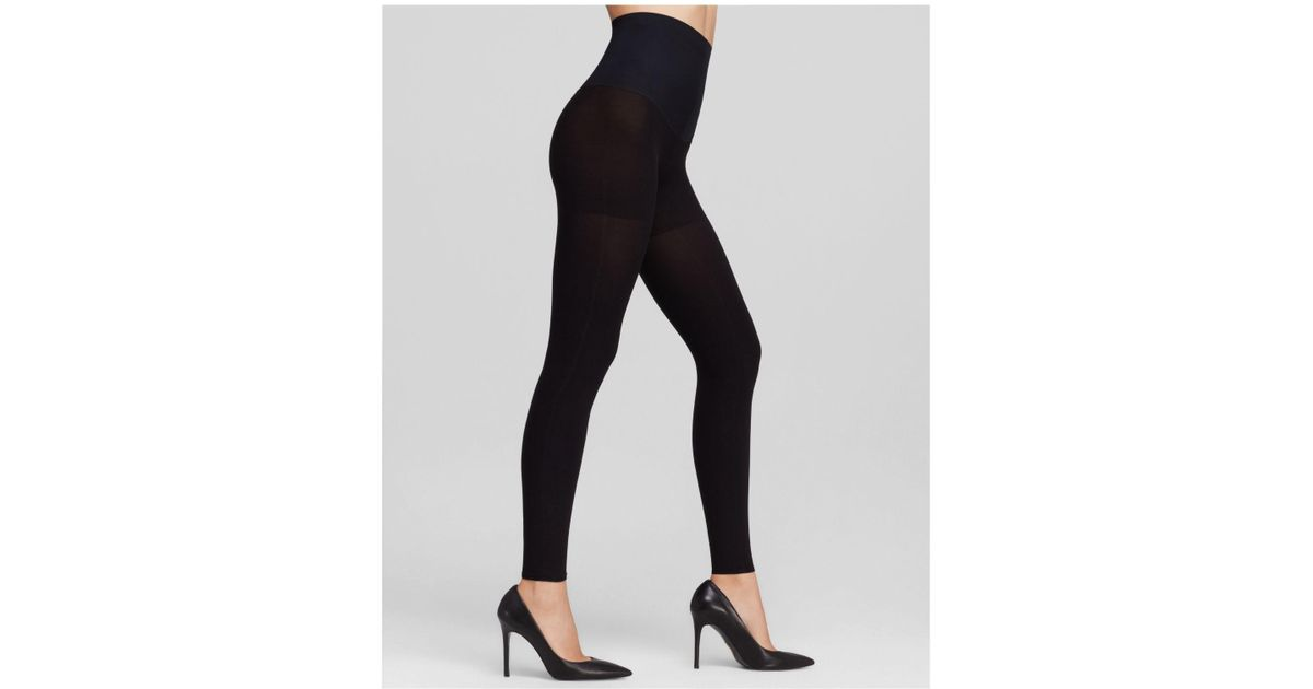 88e5317301b93 Commando Perfectly Opaque 100 Denier Matte Control Top Footless Tights in  Black - Lyst