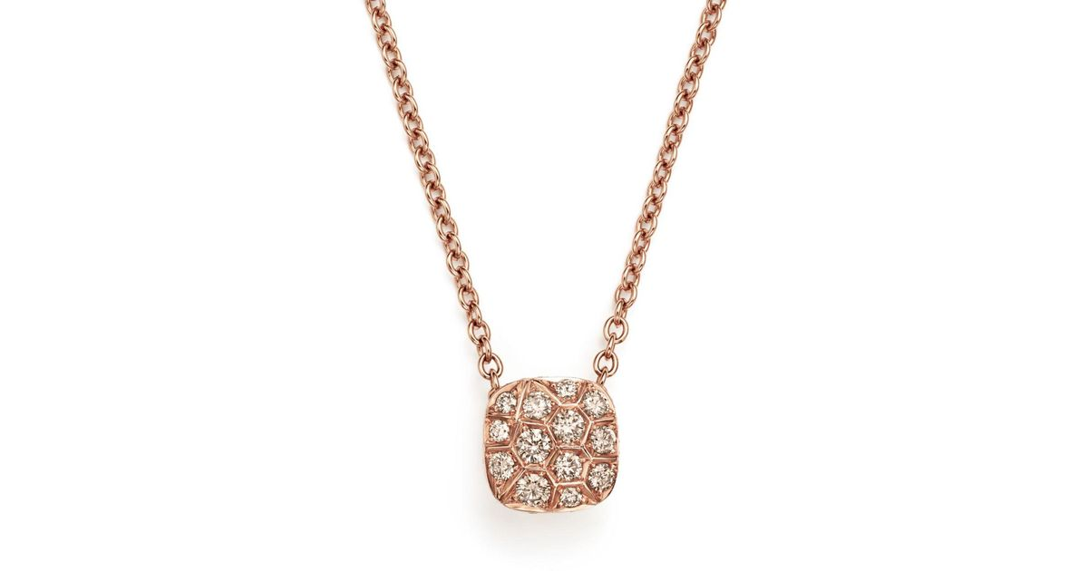 78f149a5a Pomellato Nudo Necklace With Diamonds In 18k Rose & White Gold in Metallic  - Lyst