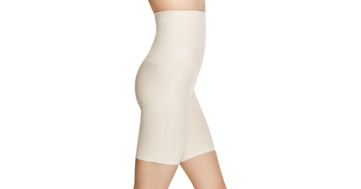 82fc965d4d Lyst - Wacoal Zoned 4 Shape Hi-waist Long Leg Shaper Shorts in Natural