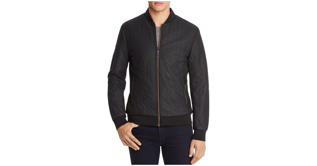 Lyst Antony Morato Leather Quilted Bomber Jacket In Black For Men