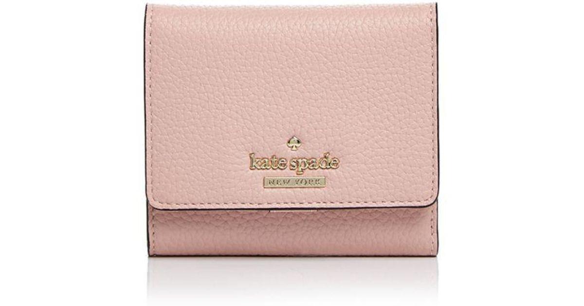 c131f1526e7d Kate Spade Jackson Street Jada Pebbled Leather Trifold Wallet - Lyst