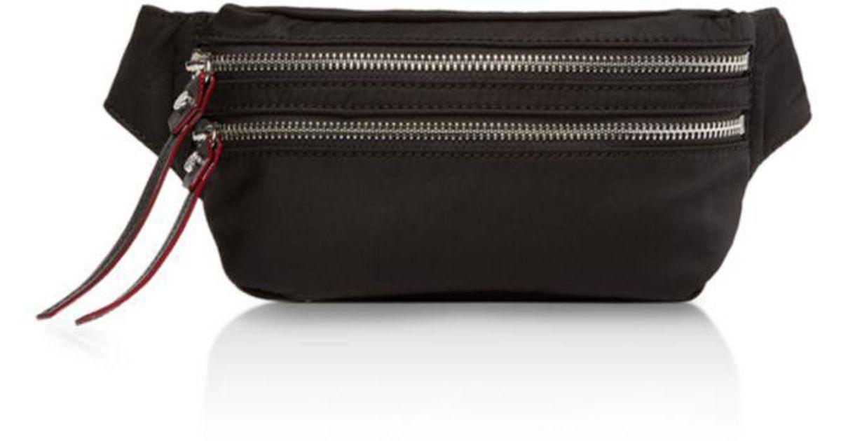 46ca95a18f0075 Lyst - MZ Wallace Jessi Belt Bag in Black