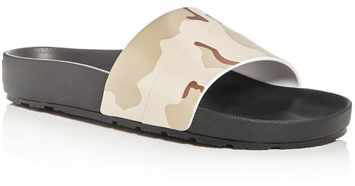 827e20a5b31a Lyst - HUNTER Men s Camo Pool Slide Sandals in Black for Men