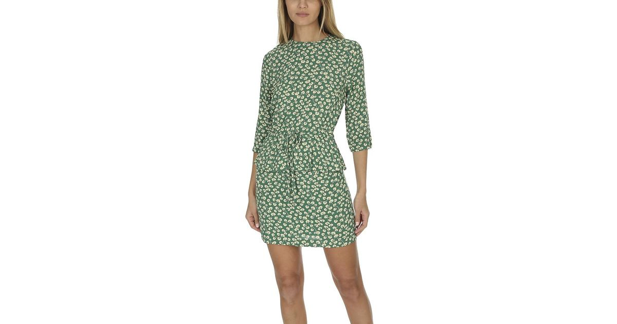 ganni green dress