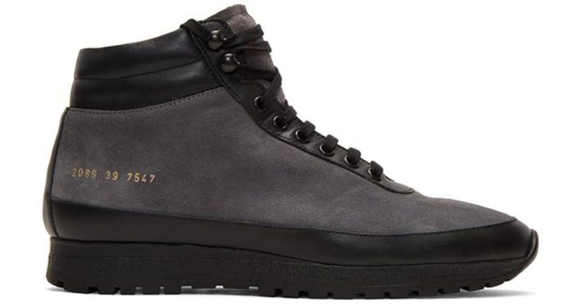 4d1c031e070587 Robert Geller X Common Projects Trekking Shoe in Black for Men - Lyst
