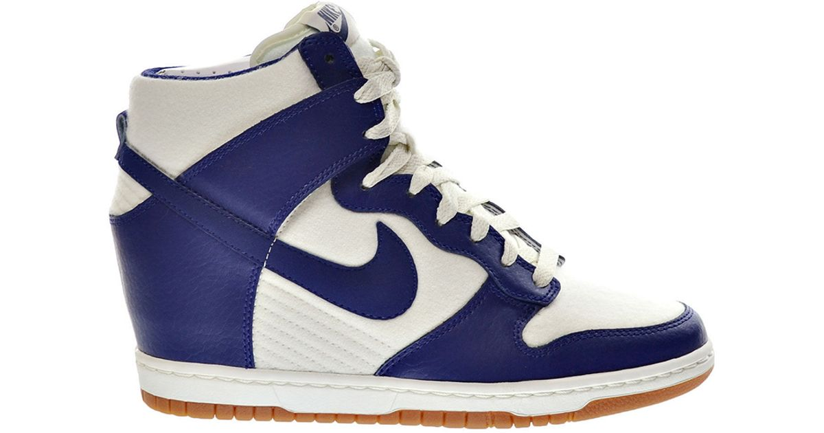 pretty nice fa5ec f57fb Nike Dunk Sky Hi High-Top Sneakers in Blue - Lyst