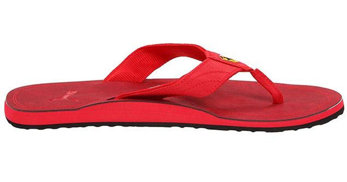 Lyst - PUMA Men s Surfrider Sf Ferrari Sandal in Red for Men 67696a45e