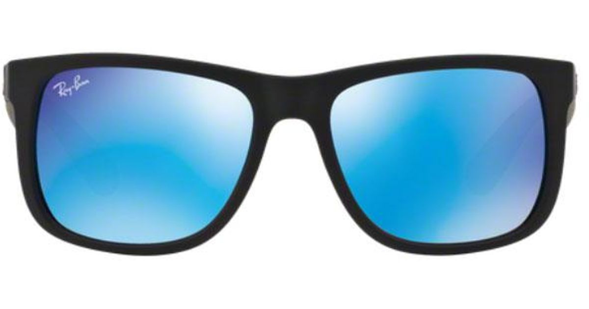33123fec95a Ray-Ban Justin Sunglasses Rb4165 622 55 55mm in Blue for Men - Lyst