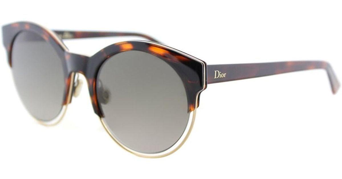 e891bf796027 Lyst - Dior Sideral1 J6f Ha Havana Rose Gols Round Sunglasses in Pink